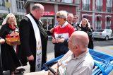 2011 Lourdes Pilgrimage - Archbishop Dolan with Malades (22/267)