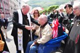 2011 Lourdes Pilgrimage - Archbishop Dolan with Malades (23/267)