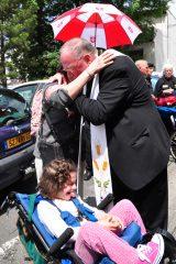 2011 Lourdes Pilgrimage - Archbishop Dolan with Malades (29/267)