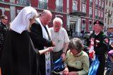 2011 Lourdes Pilgrimage - Archbishop Dolan with Malades (33/267)