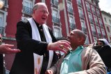 2011 Lourdes Pilgrimage - Archbishop Dolan with Malades (41/267)