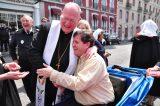 2011 Lourdes Pilgrimage - Archbishop Dolan with Malades (43/267)