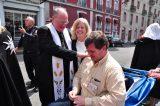 2011 Lourdes Pilgrimage - Archbishop Dolan with Malades (48/267)