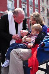 2011 Lourdes Pilgrimage - Archbishop Dolan with Malades (51/267)