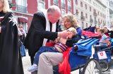 2011 Lourdes Pilgrimage - Archbishop Dolan with Malades (53/267)