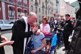 2011 Lourdes Pilgrimage - Archbishop Dolan with Malades (55/267)