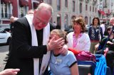 2011 Lourdes Pilgrimage - Archbishop Dolan with Malades (56/267)