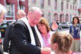 2011 Lourdes Pilgrimage - Archbishop Dolan with Malades (59/267)