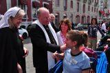 2011 Lourdes Pilgrimage - Archbishop Dolan with Malades (60/267)