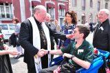 2011 Lourdes Pilgrimage - Archbishop Dolan with Malades (62/267)
