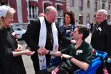 2011 Lourdes Pilgrimage - Archbishop Dolan with Malades (63/267)