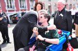 2011 Lourdes Pilgrimage - Archbishop Dolan with Malades (67/267)
