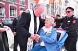 2011 Lourdes Pilgrimage - Archbishop Dolan with Malades (68/267)