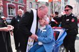 2011 Lourdes Pilgrimage - Archbishop Dolan with Malades (69/267)