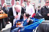 2011 Lourdes Pilgrimage - Archbishop Dolan with Malades (75/267)