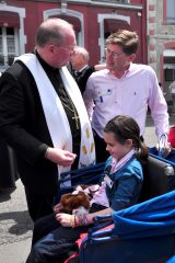 2011 Lourdes Pilgrimage - Archbishop Dolan with Malades (76/267)