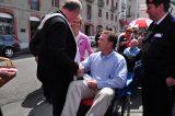2011 Lourdes Pilgrimage - Archbishop Dolan with Malades (81/267)