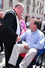 2011 Lourdes Pilgrimage - Archbishop Dolan with Malades (82/267)