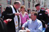 2011 Lourdes Pilgrimage - Archbishop Dolan with Malades (85/267)