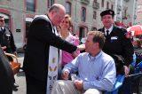 2011 Lourdes Pilgrimage - Archbishop Dolan with Malades (86/267)