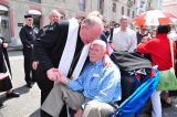2011 Lourdes Pilgrimage - Archbishop Dolan with Malades (88/267)