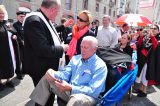 2011 Lourdes Pilgrimage - Archbishop Dolan with Malades (90/267)