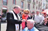 2011 Lourdes Pilgrimage - Archbishop Dolan with Malades (91/267)