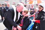 2011 Lourdes Pilgrimage - Archbishop Dolan with Malades (93/267)