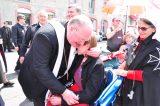 2011 Lourdes Pilgrimage - Archbishop Dolan with Malades (94/267)