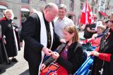 2011 Lourdes Pilgrimage - Archbishop Dolan with Malades (95/267)