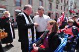 2011 Lourdes Pilgrimage - Archbishop Dolan with Malades (97/267)