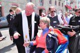 2011 Lourdes Pilgrimage - Archbishop Dolan with Malades (100/267)