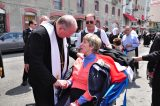 2011 Lourdes Pilgrimage - Archbishop Dolan with Malades (101/267)