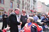 2011 Lourdes Pilgrimage - Archbishop Dolan with Malades (102/267)
