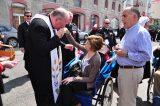 2011 Lourdes Pilgrimage - Archbishop Dolan with Malades (104/267)