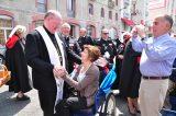 2011 Lourdes Pilgrimage - Archbishop Dolan with Malades (106/267)