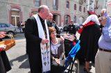 2011 Lourdes Pilgrimage - Archbishop Dolan with Malades (107/267)