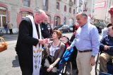 2011 Lourdes Pilgrimage - Archbishop Dolan with Malades (108/267)