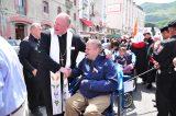 2011 Lourdes Pilgrimage - Archbishop Dolan with Malades (110/267)