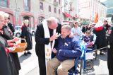 2011 Lourdes Pilgrimage - Archbishop Dolan with Malades (112/267)