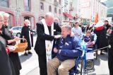 2011 Lourdes Pilgrimage - Archbishop Dolan with Malades (113/267)