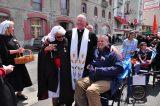 2011 Lourdes Pilgrimage - Archbishop Dolan with Malades (115/267)