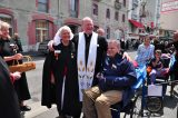 2011 Lourdes Pilgrimage - Archbishop Dolan with Malades (116/267)