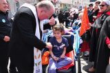 2011 Lourdes Pilgrimage - Archbishop Dolan with Malades (118/267)