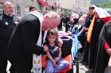 2011 Lourdes Pilgrimage - Archbishop Dolan with Malades (119/267)