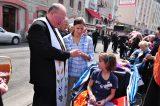 2011 Lourdes Pilgrimage - Archbishop Dolan with Malades (122/267)