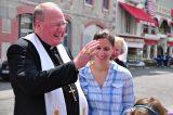 2011 Lourdes Pilgrimage - Archbishop Dolan with Malades (125/267)