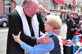 2011 Lourdes Pilgrimage - Archbishop Dolan with Malades (127/267)