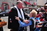 2011 Lourdes Pilgrimage - Archbishop Dolan with Malades (129/267)