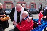2011 Lourdes Pilgrimage - Archbishop Dolan with Malades (130/267)
